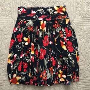 Floral Skirt with Built in Shorts